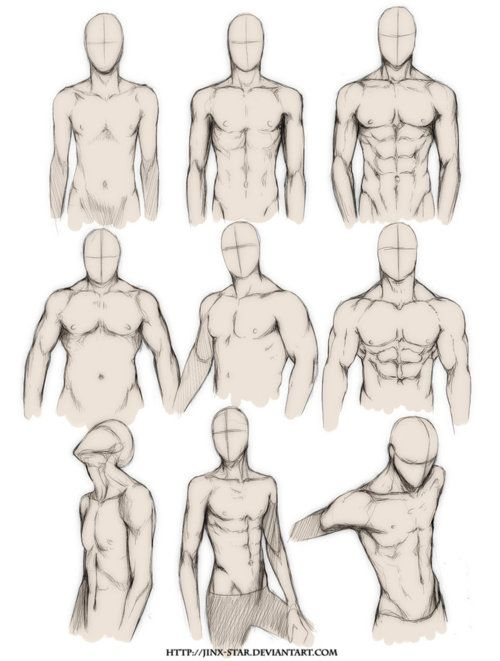 Muscle deformation drawing reference for concept art.