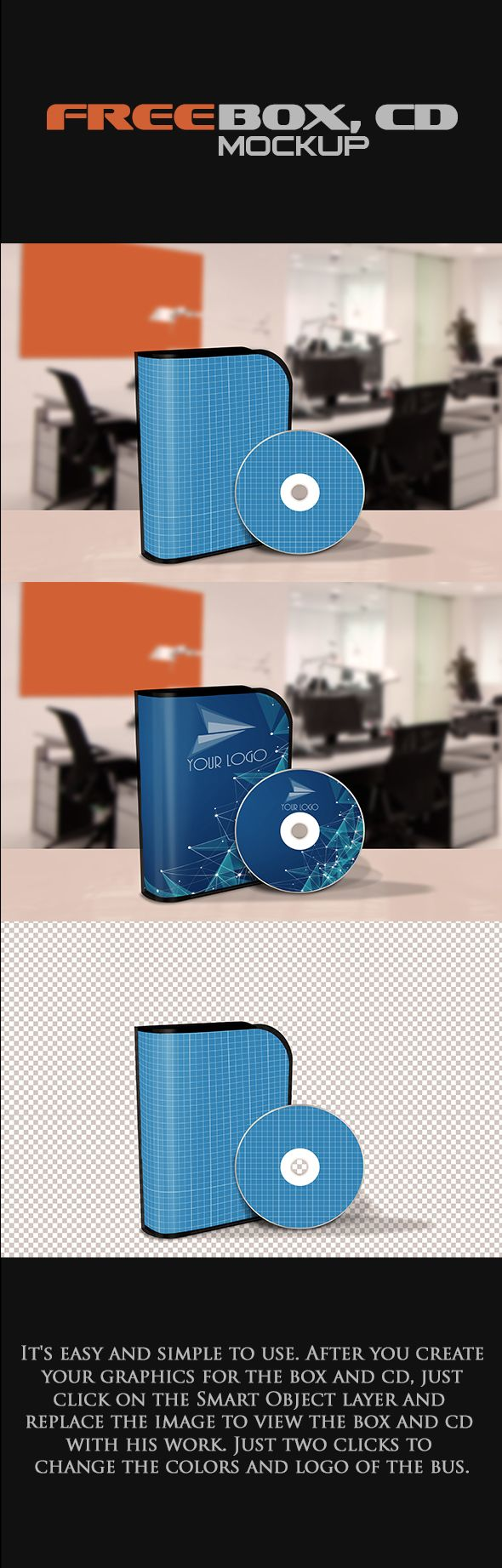 Free Mock-up Box Software and CD (65.85 MB) By Rogerio Marcons on Behance | #free #photoshop #mockup #box #cd #software
