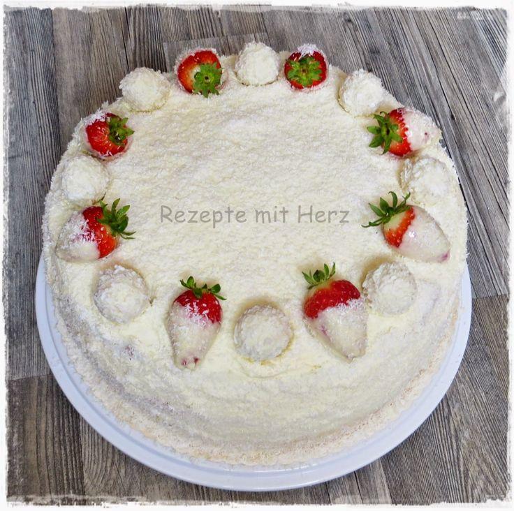 Thermomix - Rezepte mit Herz : Erdbeer-Raffaello-Torte