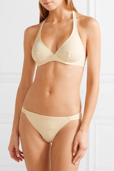 Eres - Les Essentiels Bandito Triangle Bikini Top - Cream - FR46
