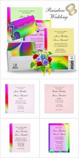 Rainbow Wedding Invitation Suite #gay #colorful