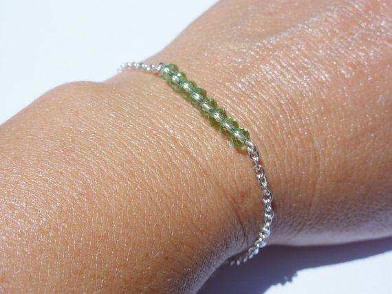 Friendship BraceletTiny Crystal Bead by StunningGemsJewelry