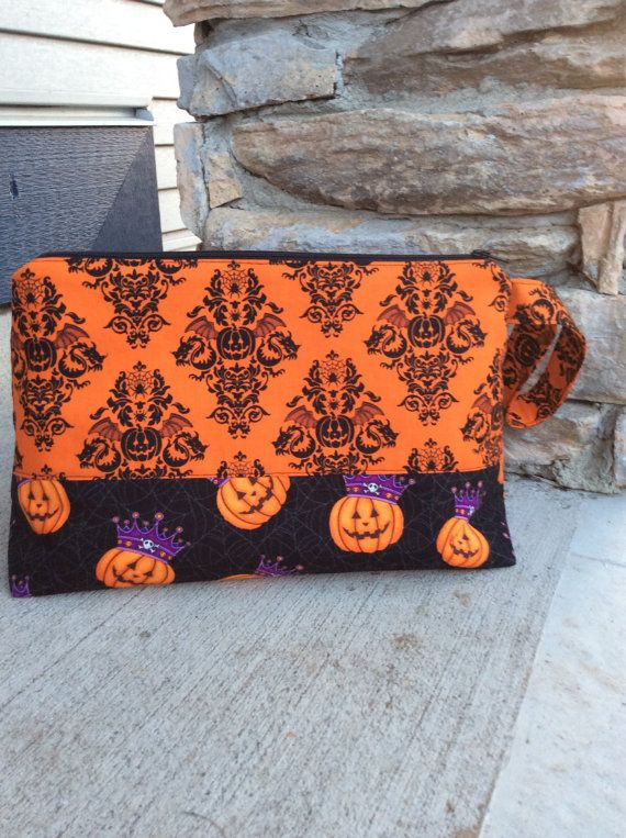 RESERVED for Sylvia  Halloween Pumpkin Zippered by KnittersNook, $26.00