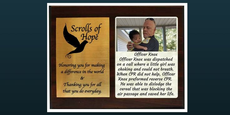 """Sending a Plaque of #Appreciation to a true #hero. Officer Knox, a #true #champion.   Not just a """"Message in a Bottle' It's all about 'Connection'"""