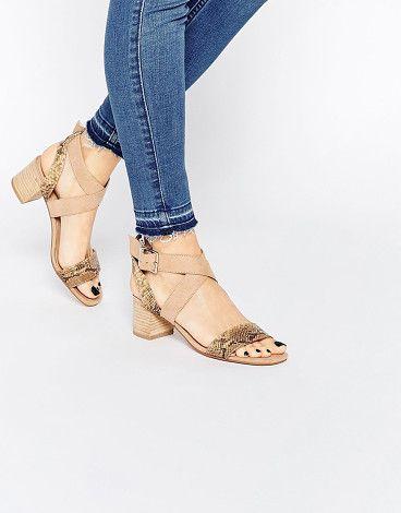 ASOS Tea time kitten heel sandals found on Nudevotion