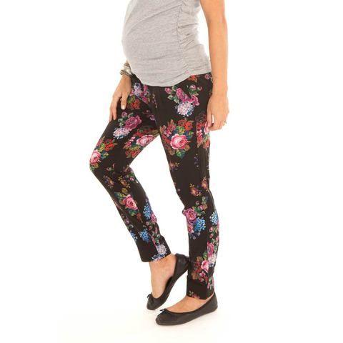floral harem pants | maternity clothing | pregnancy wear online