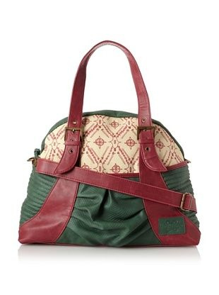 65% OFF amykathryn Women's Gladiola Carry-All Shoulder and Diaper Bag, Emerald