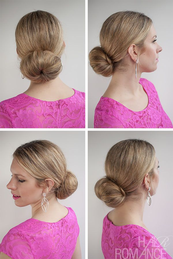 Hair Romance - 30 Buns in 30 Days - Day 6 - low sock bun hairstyle