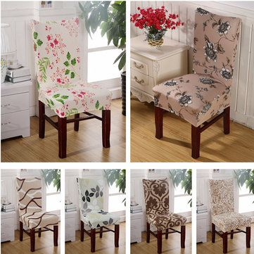 Polyester Stretch Spandex Banquet Elastic Chair Seat Cover Party Dining Room…