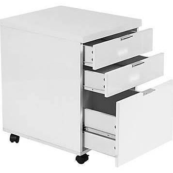 Euro Style Gilbert Wood Filing Cabinet, White