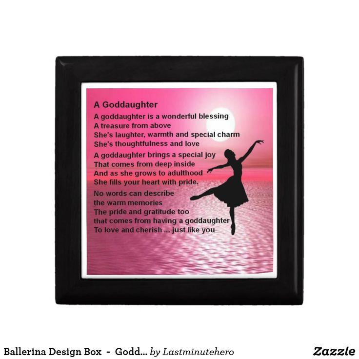 Ballerina Design Box - Goddaughter Poem