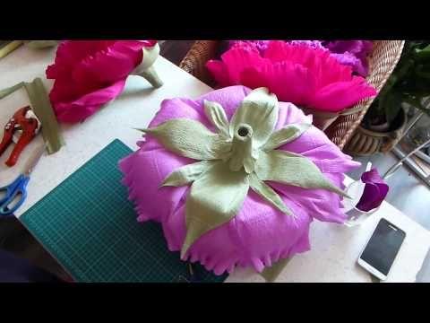 Мастер класс! Красивая Большая Роза из бумаги своими руками за 1 час! - YouTube