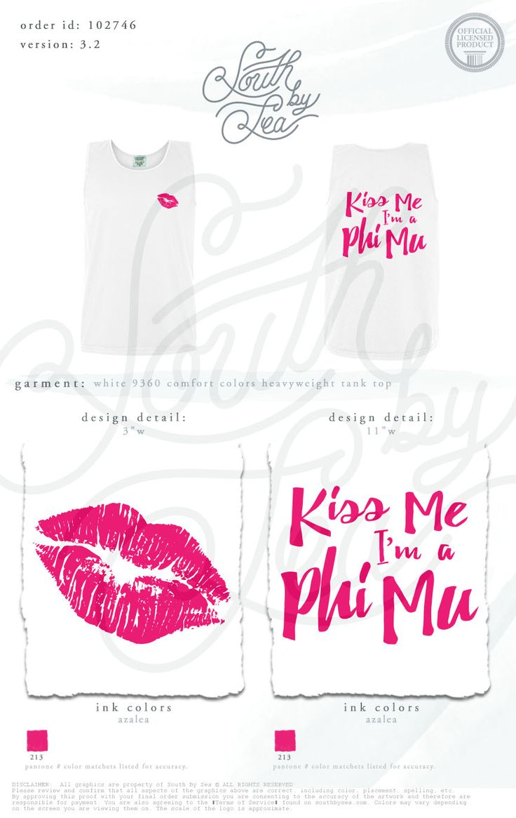 Kiss me I'm a Phi Mu | South by Sea | Greek Tee Shirts | Greek Tank Tops | Custom Apparel Design | Custom Greek Apparel | Sorority Tee Shirts | Sorority Tanks | Sorority Shirt Designs