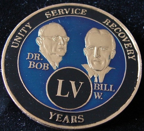 Alcoholics Anonymous 55 Year Anniversary Blue Tri Plate Medallion Bill w Dr Bob | eBay