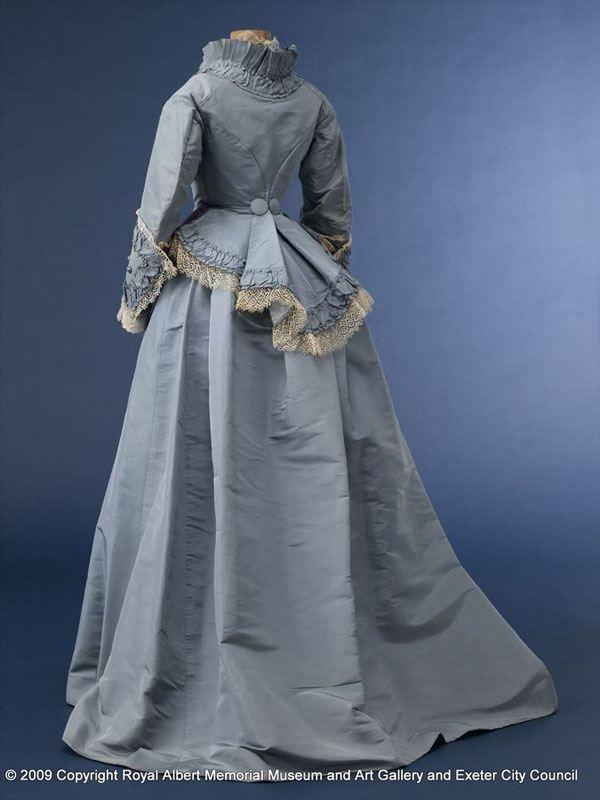 Robe de mariée victorienne bleue Plus