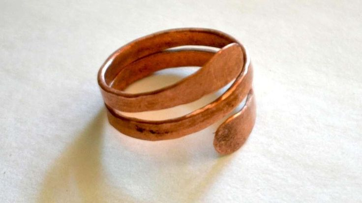 How to make a hammered mens copper ring diy style for Hammered copper jewelry tutorial