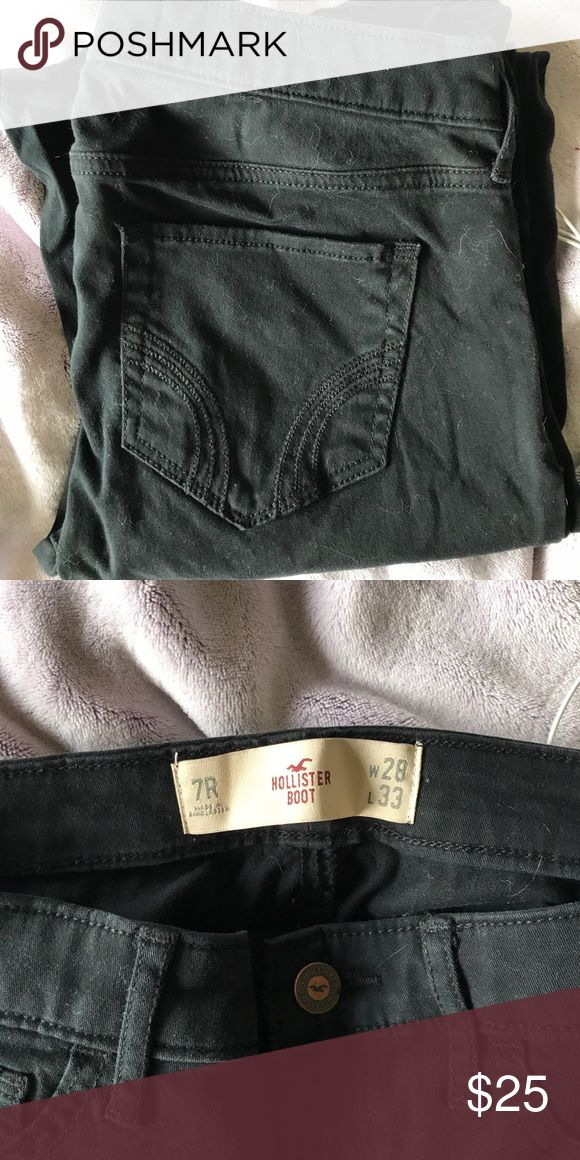 Black Hollister Boot Cut pants Black Hollister boot cut pants. Size 7 regular. Barely worn Hollister Pants Boot Cut & Flare