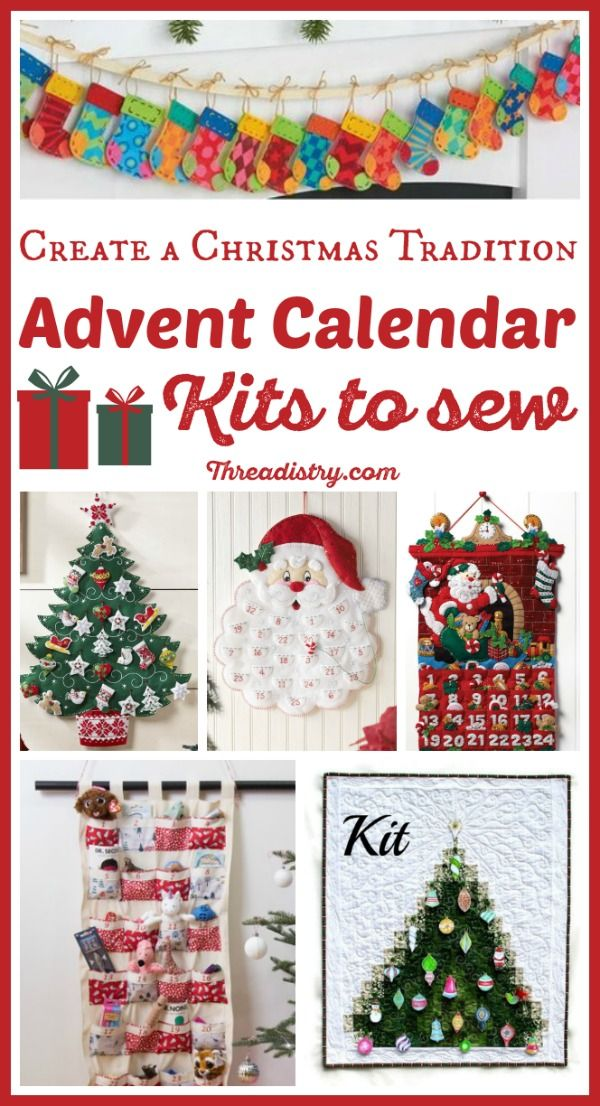 Craft A Christmas Heirloom With Advent Calendar Kits To Sew Diy