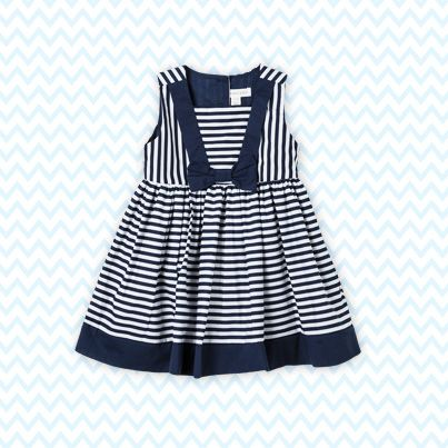 Pumpkin Patch Stripe Dress with Bow - available in sizes 12-18m to 6 years http://www.pumpkinpatchkids.com/