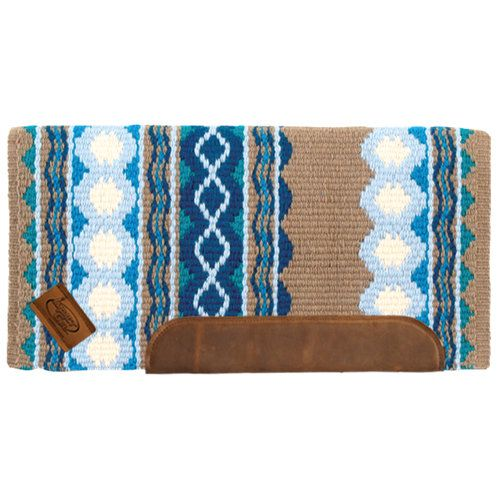 Saddle Pad Blue,Turquoise, Tan, Cream