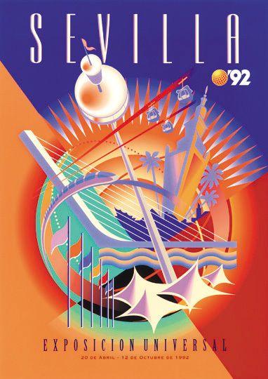 Sevilla Expo Poster by Javier Romero, via Behance