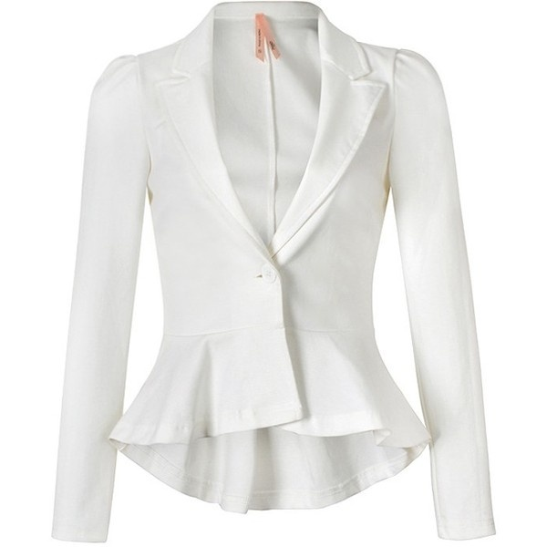 PEPLUM JACKET IN JERSEY ($25) ❤ liked on Polyvore