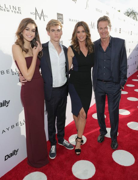 Cindy Crawford Photos Photos - (L-R) Actor Kaia Gerber, honoree Presley Gerber, Cindy Crawford and Rande Gerber attend the Daily Front Row's 3rd Annual Fashion Los Angeles Awards at Sunset Tower Hotel on April 2, 2017 in West Hollywood, California. - Daily Front Row's 3rd Annual Fashion Los Angeles Awards - Red Carpet