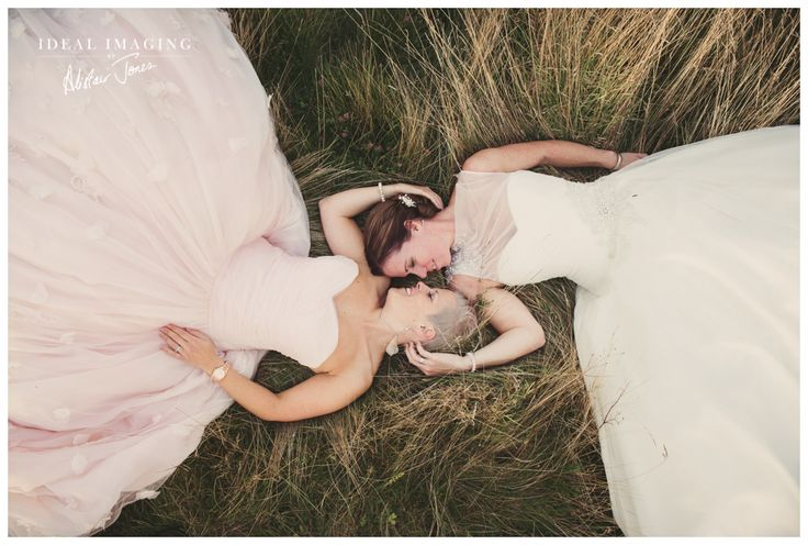 Must have wedding photo for lesbian couples that both choose a dress! Beautiful | Basing House Same Sex Wedding Photography - Sam & Sarah