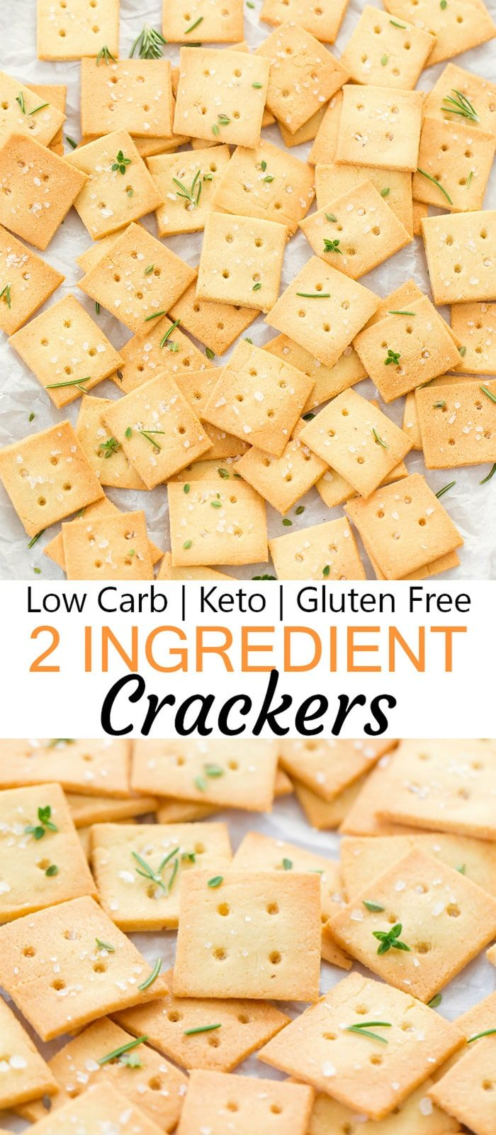 2 Ingredient Almond Crackers Recipe Low Carb Appetizers Low