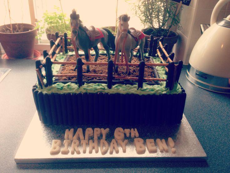 Horse themed birthday cake!
