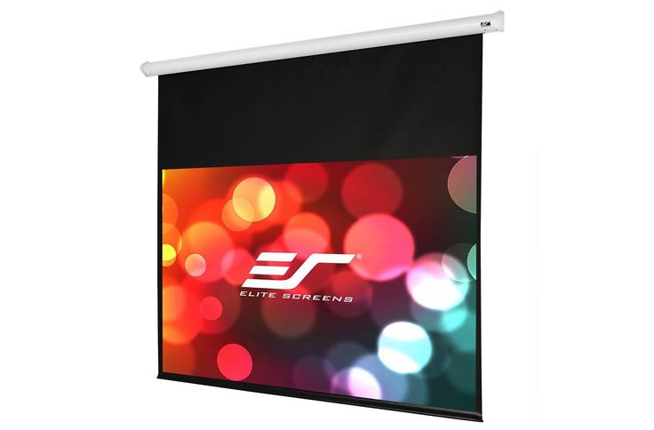 """Elite Screens Starling, 120-inch 16:9, Home Theater Electric Motorized Drop Down Projection Projector Screen, ST120XWH-E14. 120-inch Diagonal, 16:9 Aspect Ratio. View Size: 58.8"""" H x 104.5"""" W. Overall Size: 78.8"""" H x 118.7"""" W. White Case. Extra 14-inch Drop. Screen Material: SpectraWhite FG, 1.1 Gain. Matte white, fiberglass backed, 180 degree viewing angle, 4K Ultra HD and Active 3D Projection Ready. Flame Retardant: Complies with NFPA 701 Standards. Synchronous motor operates silently…"""