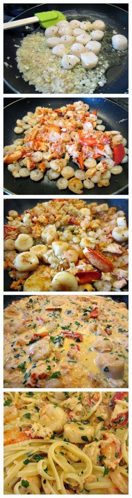 Seafood Linguine   Gurman chef