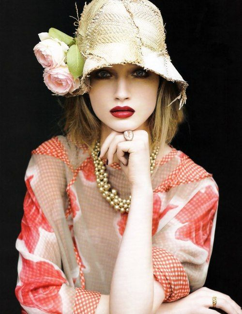 : Hats, Fashion, Style, Color, Beautiful, Red Lips, Women, Mad Hatter
