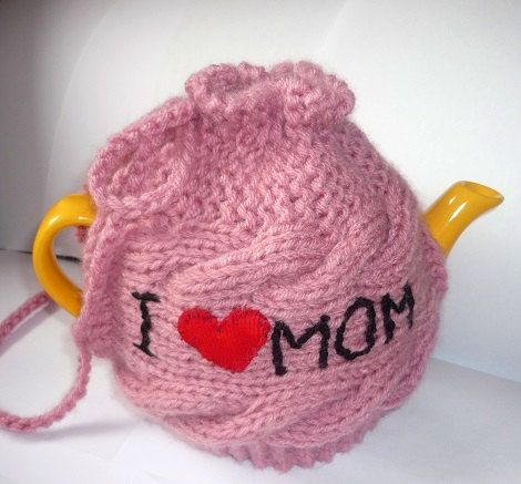 Valentines gift TeaPot Cozy Gift for Mom Knitted by IskaCreations