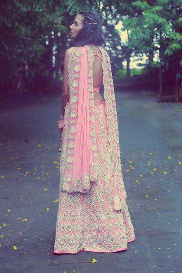 Light Pink Bridal lehenga and saree | Light Pink Theme and Decor | Wed Me Good