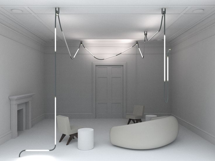 Mono-Light installation for Galerie Gosserez Project in grey color