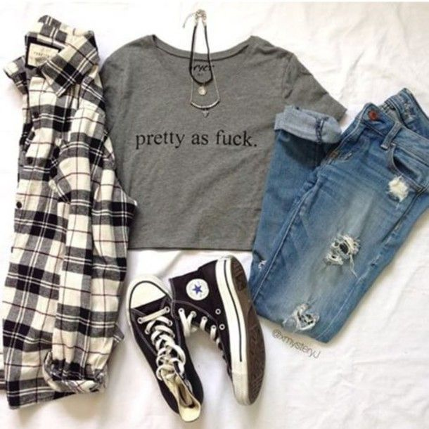 t-shirt grey pretty as pretty as fuck love grey grey outfit tumblr outfit tumblr shirt tumblr hipster hipster swag swag top swag outfit