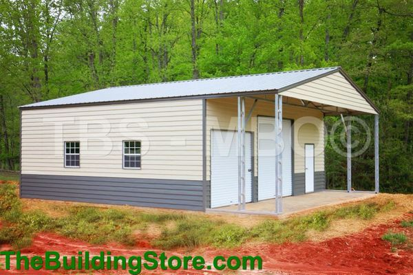 Garage 40x40x16 Shop With 40x30 Enclosed 12x12 Roll Up 10x10 Rollup 4 30x36 Windows And A Walk In Door In Lap S Lap Siding Metal Buildings Garage Shop Plans