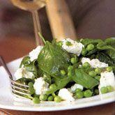 *Jamie Oliver's Salade van jonge spinazie, doperwten en feta | Smulweb.nl