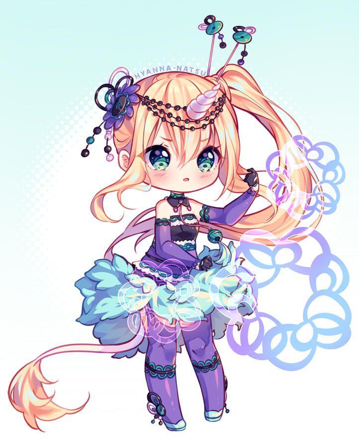 Video Commission Purple Magic By Hyanna Natsu Cute Anime Chibi Chibi Girl Drawings Chibi Anime Kawaii