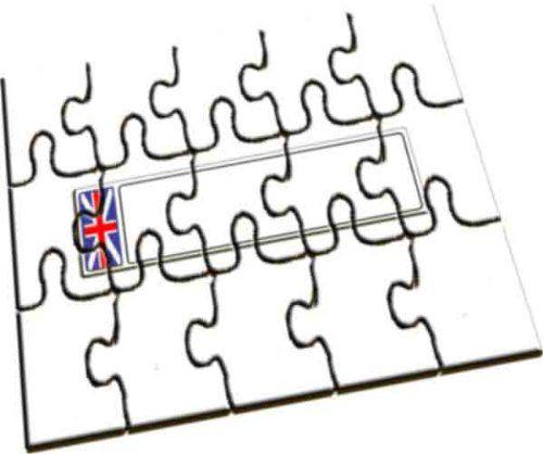Plaque d'immatriculation de la GB personnalisée Puzzle en bois A5 | Your #1 Source for Toys and Games