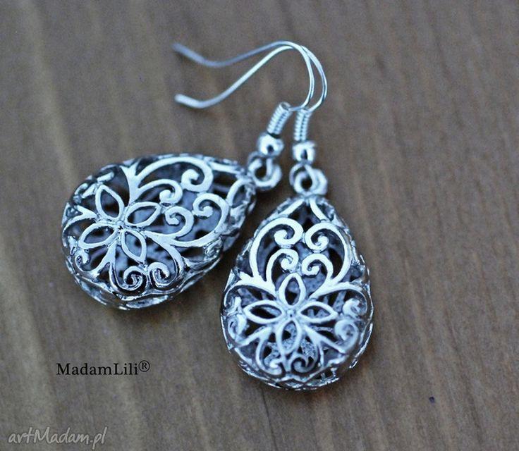 Srebrne kolczyki vintage 'monastir´ madamlili srebro antyk perly