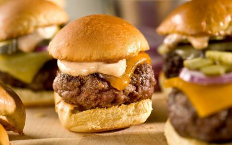 Sliders with Chipotle Mayo Recipe by Bobby Flay