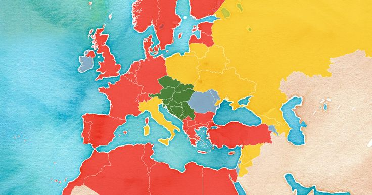 """Roots of words for """"tomato"""" in Europe and the Mediterranean — Map created by Ken Davis in CartoDB"""