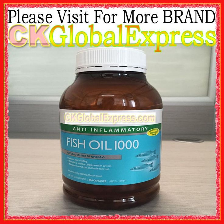 Fish Oil 1000 FOR Health Supplement 400 Pack Capsules Omega 3 DHA EPA with Free Shipping