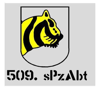 Aufkleber 509. sPzAbt/ mehr Infos auf: www.Guntia-Militaria-Shop.de