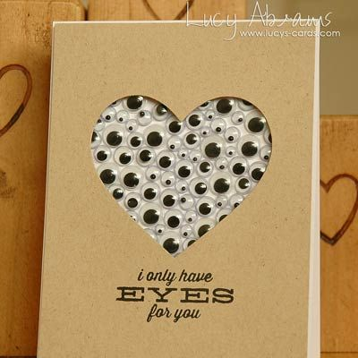 I Only Have Eyes For You Googly Eyes Valentine Card.