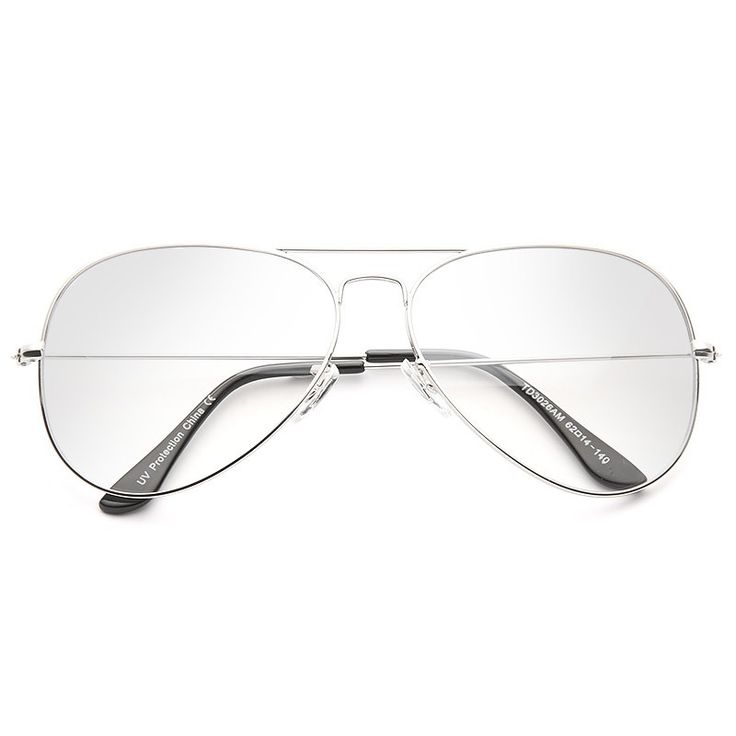 Clear Aviator Glasses | Classic 60mm Lightly Tinted Clear Aviator Glasses | BleuDame.com