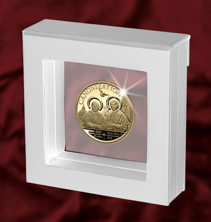 La moneta della Canonizzazione dei due Papi
