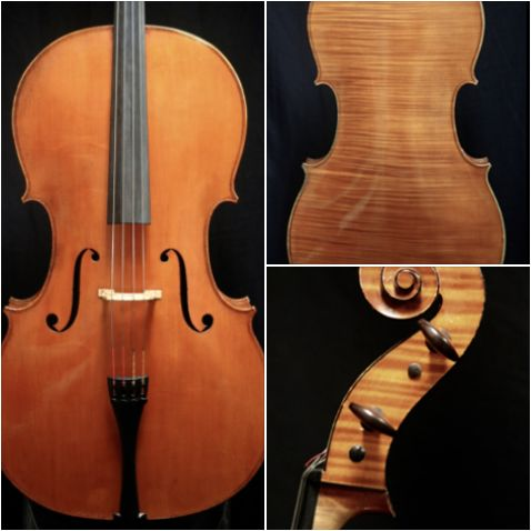 A dark, rich and powerful 2000 cello crafted by violinmaker Eric Benning is available for examination and trial. #cello #violinmaker #EricBenning #BenningViolins